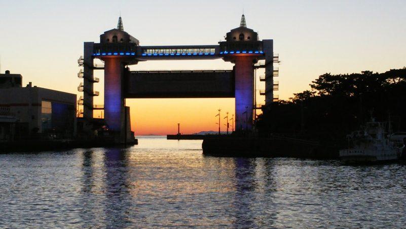 沼津港の夕焼け